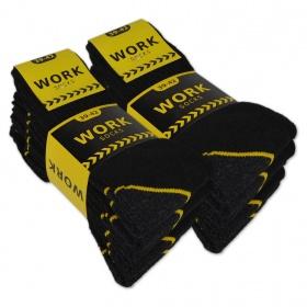 "30 paar zwarte ""Work"" Werksokken ""NAFT"" 5-pack (zwart)"