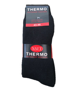 """20 paar Thermo sokken """"Naft"""" 2-pack (zwart)"""